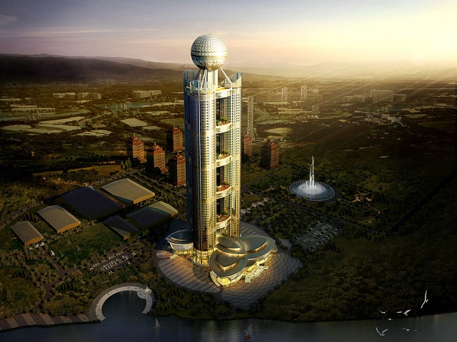 revolving restaurant of Huaxi Village in the Air