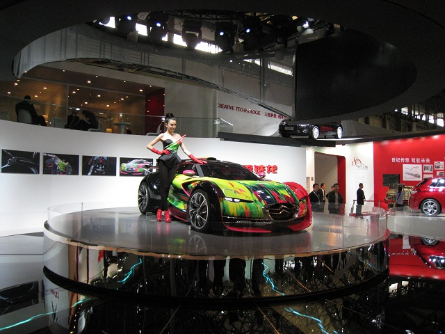 display car turntables in Shanghai motor show in 2011